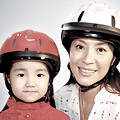 Michelle Yeoh and kid